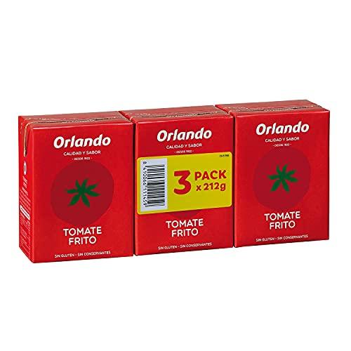 ORLANDO Tomate Frito Clásico Brik de 3 paquetes de 3 unidades x 210g (total de 9 unidades)