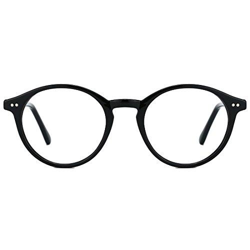 TIJN TIJN Round Optische Brillen nicht verschreibungspflichtigen Brillen Rahmen mit klaren Gläsern für Frauen