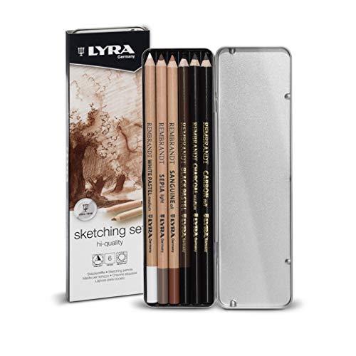 LYRA Rembrandt Skizzierset, 6 Bleistifte, sortiert