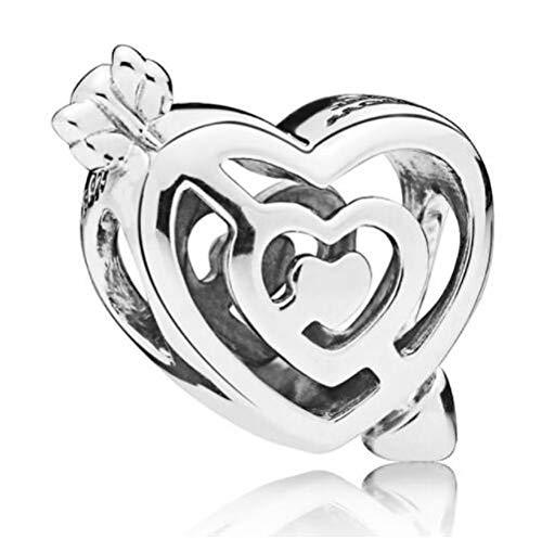 Pandora 925 Sterling Silver Bead Charm Ajouré Flèche Pierce Pat To Love Perle Bricolage Bijoux