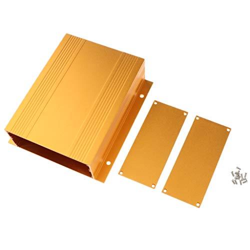 Alu Gehäuse Box Leergehäuse Leergehäuse Industriegehäuse 9 Größe für Platinen Sicherheit Elektronik Netzteil Montage - 133 x 47 x 150 mm