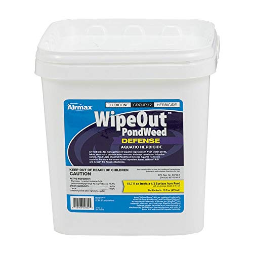 Airmax Wipeout Pondweed Defense, Pond Herbicide & Weed Control, 16oz