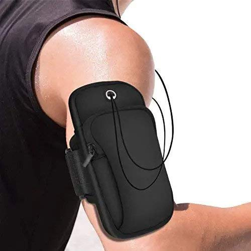 MODERN IN All Android and iOS Mobile Phones Universal Waterproof Hand Fitness Armband Pouch/Arm Belt/Case for Running Hiking Jogging Sports and Gym Activities, Up to 6 inch - Multi Color