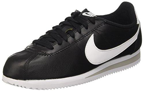 Nike Herren Classic Cortez Prem Laufschuhe, Schwarz/Weiß/Grau (Schwarz/Weiß-Neutral Grau), 42 1/2 EU