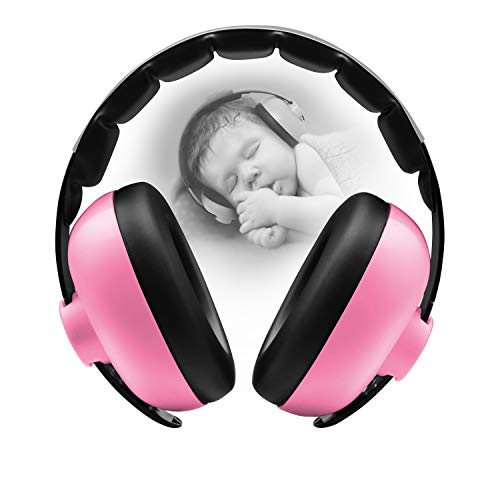 BBTKCARE Baby Gehörschutz Kopfhörer mit Geräuschunterdrückung für Babys für 3 Monate bis 2 Jahre (pink)