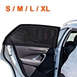 2Pack Universal Super Elastic Car Window Sunshades 22' to 52', Breathable Mesh Window Cover for Car, Side Window Screen for Car Camping Trip, Fit for Most Cars Truck SUVs