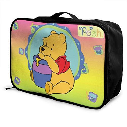 Winnie The Pooh - Borsone da viaggio, impermeabile, alla moda, leggero, grande capacità, portatile