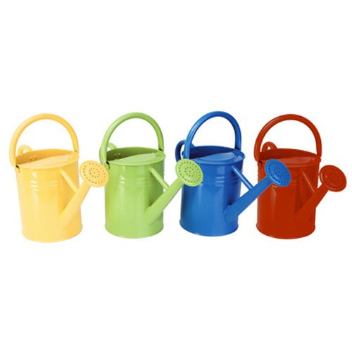 Panacea 84835 Metal Traditional Painted Watering Can, 4-Liter, 4
