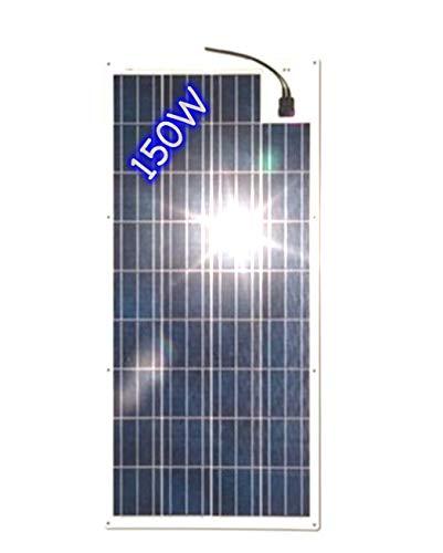 Pannello Solare Policristallino 150W Flessibile Frontsheet Prismatico ETFE per barche, camper e baite.