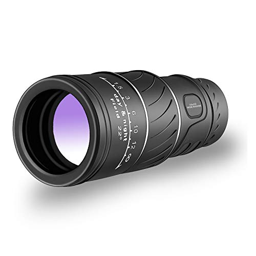 Monocular Telescope - Monocular, Dual Focus Optics Zoom Telescope, High Definition,Waterproof with BaK4 Prism FMC, Day & Night Vision