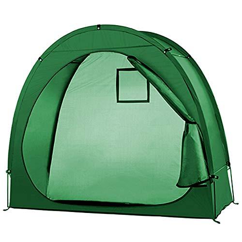 Lixada Fahrradzelt Fahrradaufbewahrungsschuppen 190T Fahrradaufbewahrungsschuppen mit Fensterdesign für Outdoor Camping (mit Tragetasche)