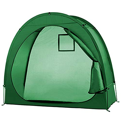 Bicycle Tent,190T Bike Storage Shed,Bicycle Garage,Tidy Tent,Bike Shelter,Bicycle Cover,Protective Tent,Bicycle Cycle Tent,Bike Storage Shed Tent,Waterproof,Outdoor Garden Storage Tent,ArmyGreen