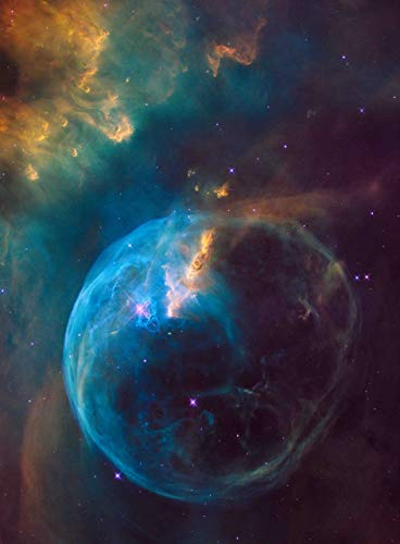 Adult Jigsaw Puzzle Colorful Space Star Bubble Nebula 75cmX50cm(29.5inX19.7in)
