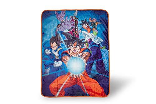 Dragon Ball Z 57925 Super Saiyan Group 6 Throw Blanket, One Size, Multicolor