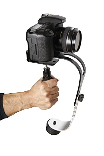 The Official Roxant Pro Video Camera Stabilizer Limited Edition (Midnight Black) with Low Profile Handle for GoPro, Smartphone, Canon, Nikon - or Any Camera up to 2.1 lbs. - Comes with Phone Clamp.