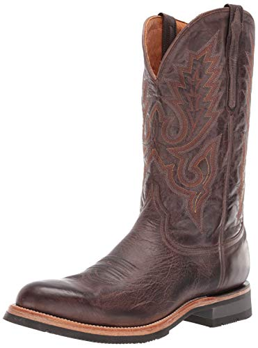 Lucchese Bootmaker Mens Rusty Embroidery Round Toe Boots Mid Calf - Brown - Size 12 D