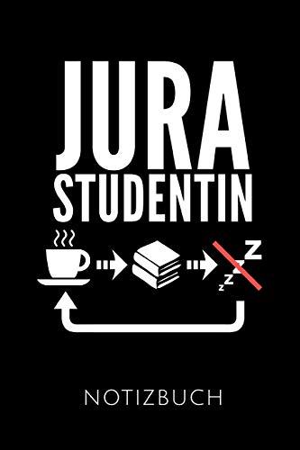 JURASTUDENTIN NOTIZBUCH: Ein schönes Notizbuch mit 110 linierten Seiten für jemanden, der Jurastudent ist - Ideal für Notizen zum Thema Jura und Recht