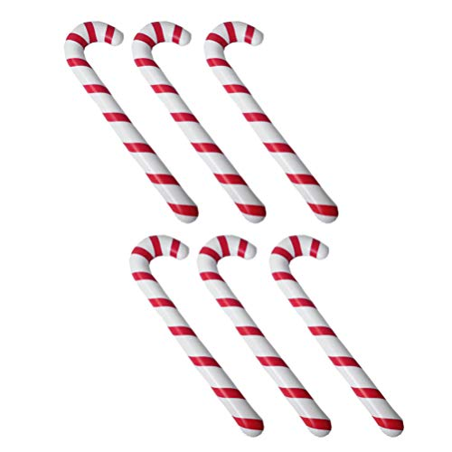 Toyvian - 6 palitos de Navidad con Forma de Espiral para decoración de árbol de Navidad, Guirnalda de Navidad, Adorno para Colgar