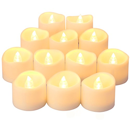 Oria LED Candles Tea Lights, Flickering Flameless Candles, Realistic...