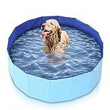Mirtillo & Memole Piscina Rígida Plegable para Perros y Gatos y Mascotas Grandes XL (80 x 30, Rojo)