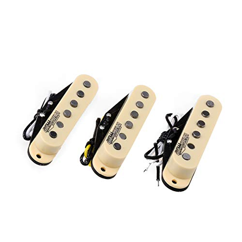 Wilkinson Tonalité Vintage Staggered Alnico 5 Micros Simple Bobinage Pickups Set pour Guitare...