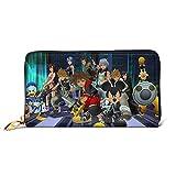 Hirola Kingdom Hearts Fashion Cartera de cuero, portátil, Unisex bolsa de identificación, caja de tarjeta de visita, Cartoon Lovely Popular Leather Craft Card Package Advanced es