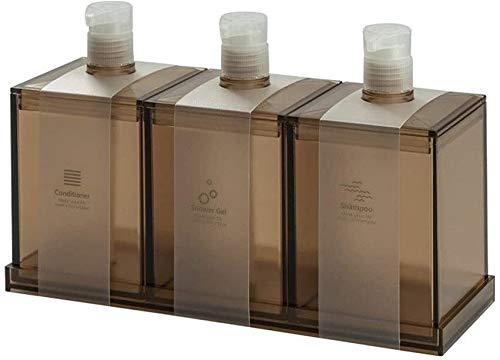 HLZY Dispensadores de jabón de encimera de baño, Dispensador de jabón Dispensadores de jabón Tipo de Empuje Botellas de Bombeo Dispensador de jabón Encimera y vanidades 550 ml (Color : Brown)