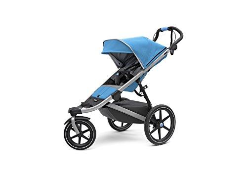 Thule Urban Glide 2 All Terrain Kinderwagen, blau/silberner Rahmen, Einzelbett