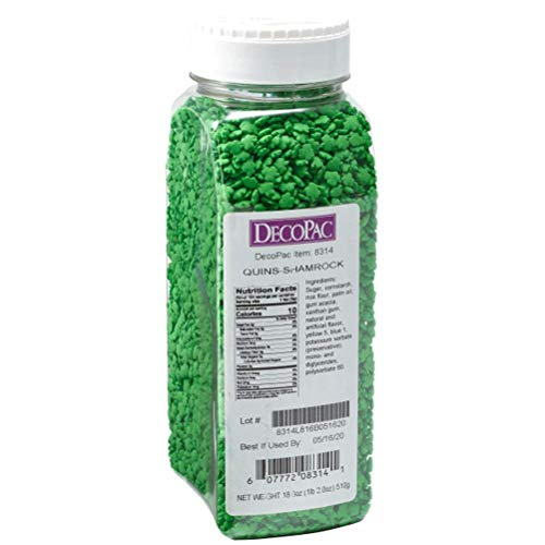 Decopac Shamrock Quins Sprinkles 18 oz
