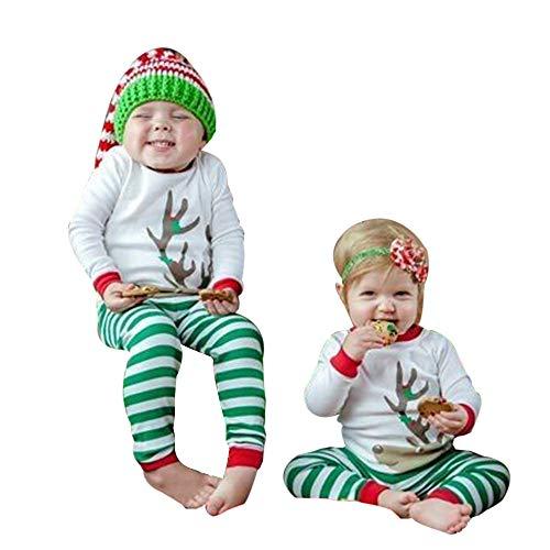 YanHoo Ropa para niños Camiseta de Manga Larga con Adornos navideños de...