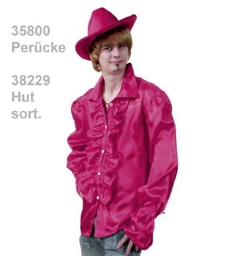 narrenwelt Rüschenhemd pink Rueschenhemd Unisex XL