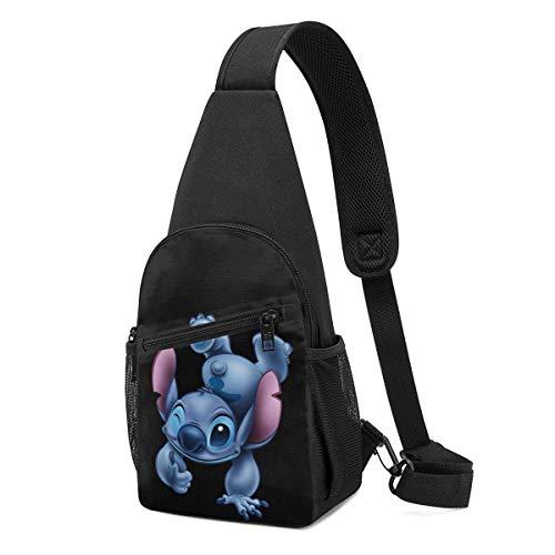 Sling Bag – Stitch Lilo Pelekai Crossbody Sling Rucksack Reise Wandern Brusttasche Daypack für Damen Herren