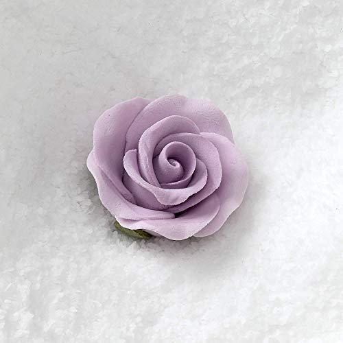 Set of 12 Gumpaste Sugar Flower Roses - Cake or Cupcake toppers (Lavender)