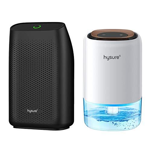 Hysure Dehumidifier Combo for Small to Medium Space, Quiet Room Dehumidifier, Portable Dehumidifier for Bathroom Basement RV Babyroom