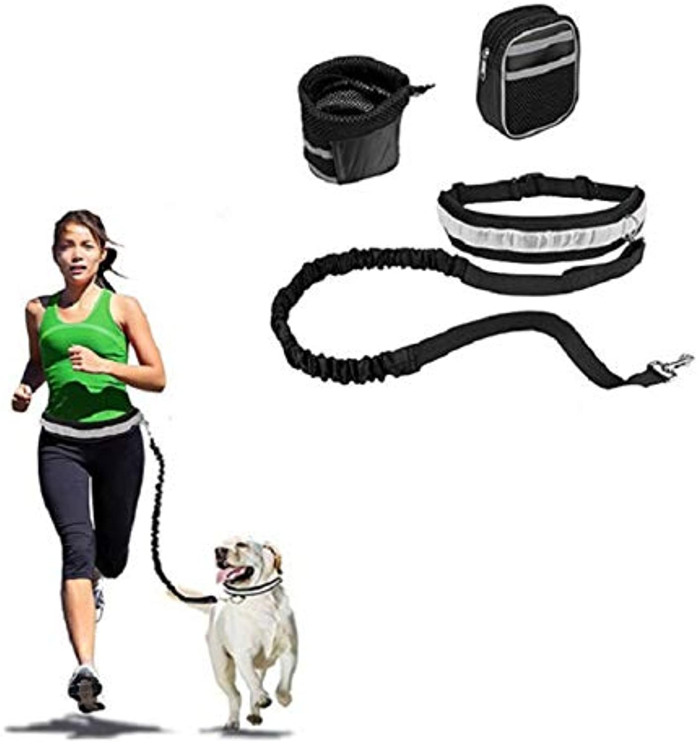 CHELIZI Pet dog running traction set waist four piece set dog chest strap adjustable traction rope