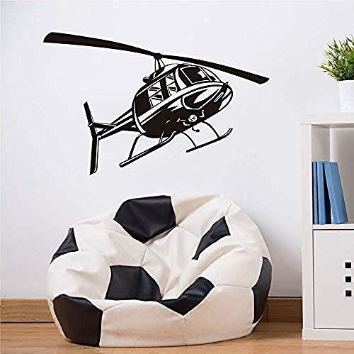 Art Muurstickers Muursticker Schaar Cartoon Helikopter Vinyl Muurstickers Kinderen Stickers Kamer Kleuterschool Woondecoratie Kinderen Applique 59X37Cm