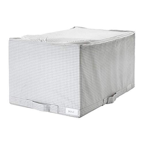 Ikea Stuk 003.096.88 - Caja de almacenaje (13 1/2 x 20 x 11), Color Blanco y Gris