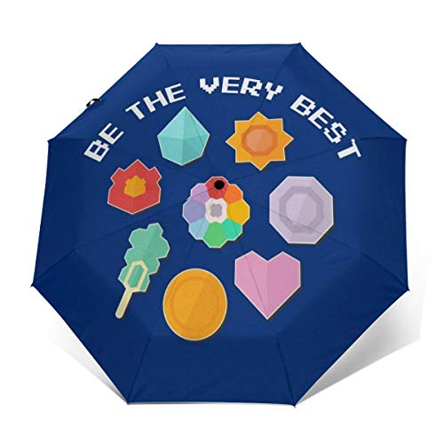 Be The Very Best Retro Monster Of The Pocket Windproof Compact Auto Open And Close Folding Umbrella,Automatic Foldable Travel Parasol Umbrella