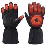 Beheizbare Handschuhe Damen Herren Wiederaufladbare wasserdichte 2021 neueste 3 Heiztemperatur einstellbare Touchscreen Beheizte Handschuhe für Outdoor-Aktivitäten