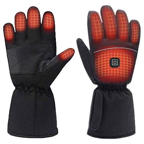 Beheizbare Handschuhe Damen Herren wasserdichte 2021 neueste 3 Heiztemperatur einstellbare Touchscreen Beheizte Handschuhe für Outdoor-Aktivitäten