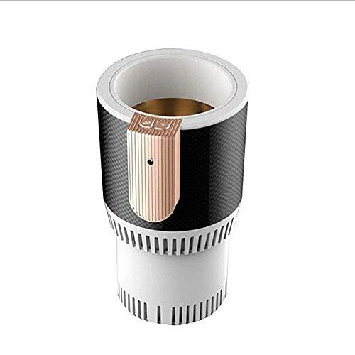 Refrigerador pequeño para automóvil 12V Taza de enfriamiento para automóvil portátil Smart Mini Office Hot Cup Tecnología Negra de enfriamiento rápido Adecuado para Viajes/campam