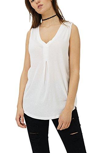 trueprodigy Casual Mujer Marca Camiseta Basico Ropa Retro Vintage Rock Vestir Moda Cuello V Manga Corta Slim Fit Designer Fashion Blusa