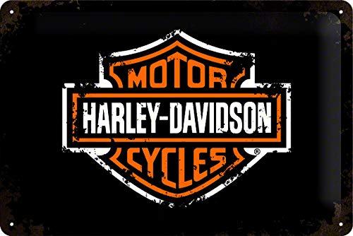 HARLEY-DAVIDSON Targhe, Multicolore, 3 x x 2