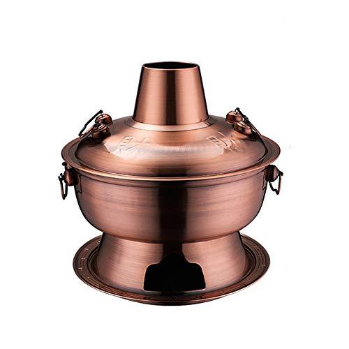 LRHD Cinese Tradizionale Vecchia Pechino Carbone scaldavivande, Charcoal Pure Copper Pot Commerciale Hotpot Negozio Speciale pentola Riscaldamento Pot, Chafing Dish mongola