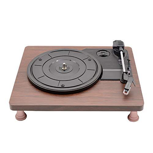 GWX Vinyl platenspeler, retro vinyl grammofon, tablet speler drie ondersteunt snelheden die aangesloten worden op de versterker