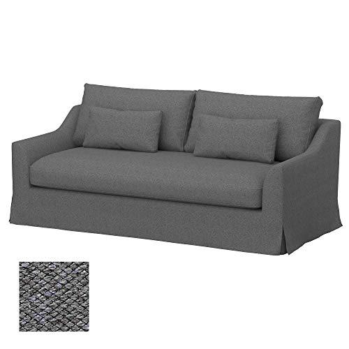 Soferia Funda de Repuesto para IKEA FARLOV sofá de 3 plazas, Tela Nordic Grey, Gris