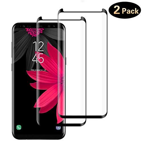 DOSMUNG 2 Pack Vetro Temperato per Samsung Galaxy S8 Plus, Pellicola Vetro per Samsung S8 Plus [9H Durezza] [Curva 3D] [Copertura Completa] [Alta Definizione] Galaxy S8 Plus Pellicola Protettiva