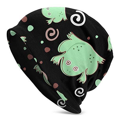 Hangdachang The Frog Is Spinning - Gorro Holgado de algodón para Mujer, Sombreros, Turbante