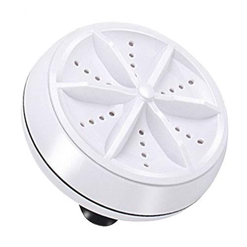 MARSPOWER Mini Ultrasonic Washing Machine Portable Turbo Personal Rotating Washer Convenient Travel Home Business Travel USB