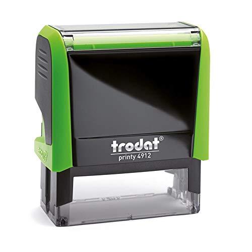 Stempel Trodat Printy 4912 custom (47x18 mm - 5 Zeilen) mit individueller Textplatte Farbe Grün